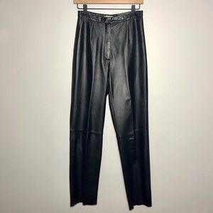 Apostrophe Sz 4 High Waisted Genuine Leather Pants